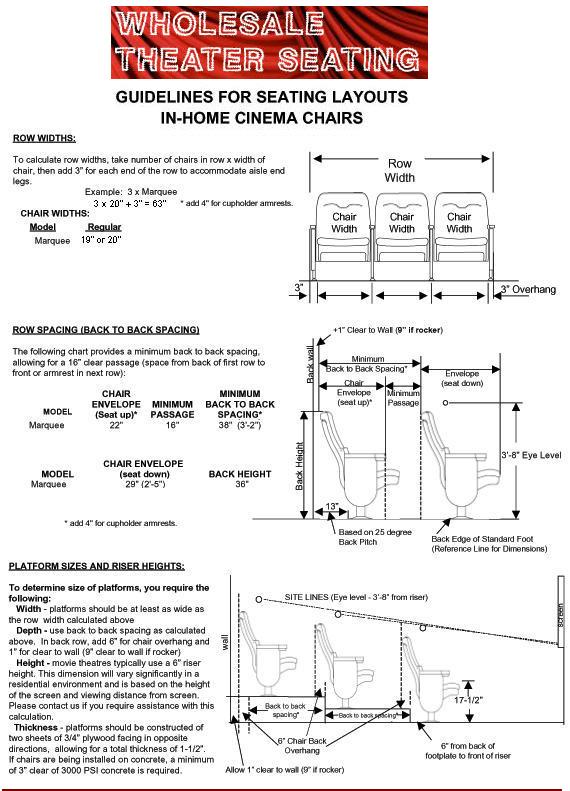 theater seating layout guide