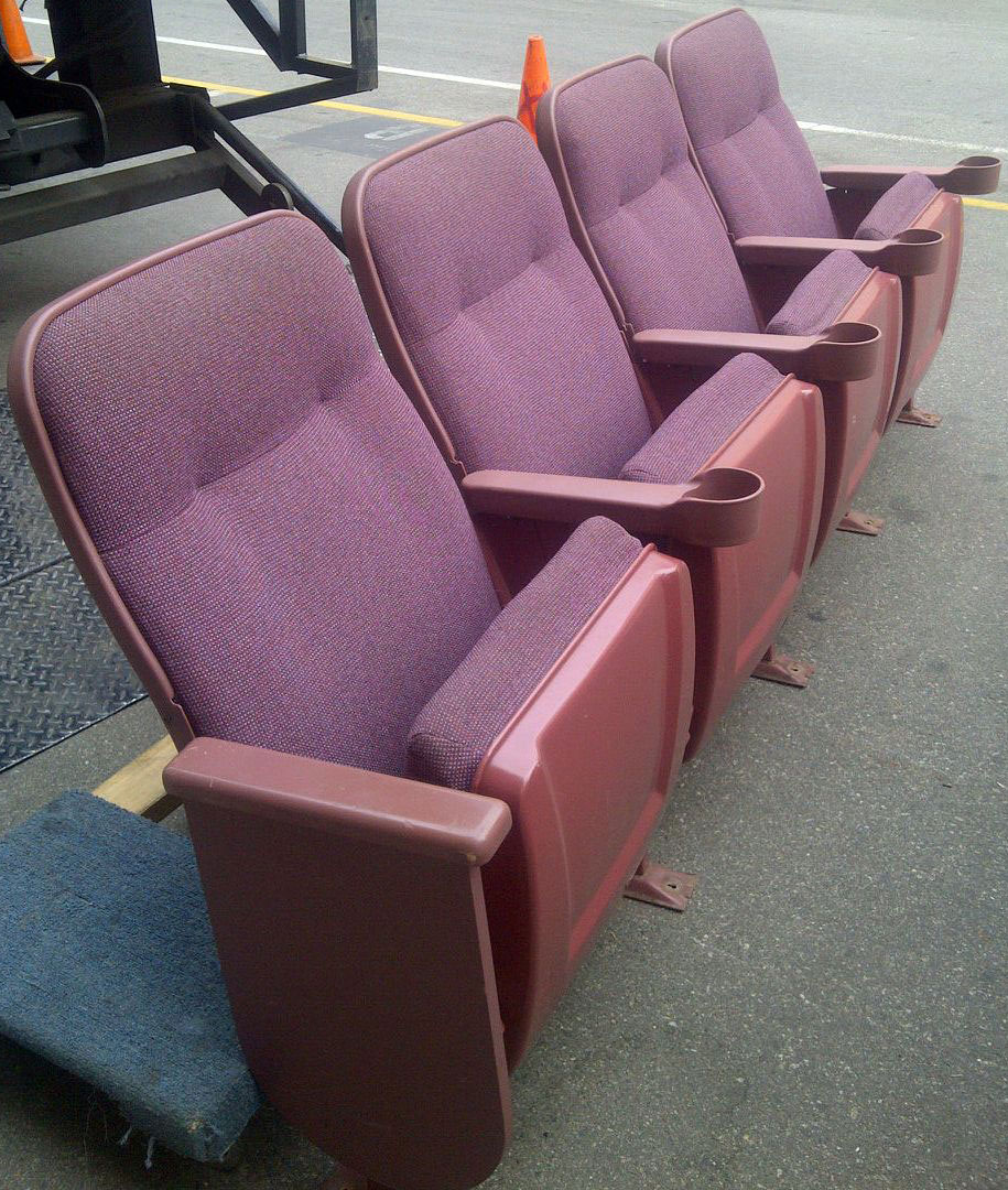 Lot of 300 Theater Seating Movie Auditorium chairs Home ...