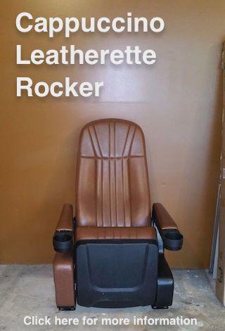 Cappuccino Leatherette Rocker