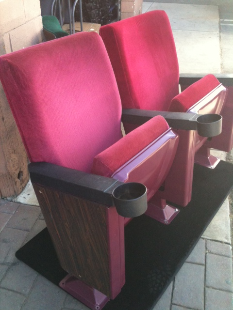 Wholesale Theater Seating. Margarita Red Rocker used theater chairs