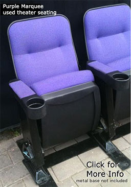Purple Marquee Wholesale Used Theater Seating