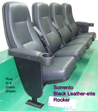 used theater seating black leather Sorrento