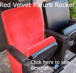 Red Velvet Refurbished Theater Seating